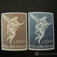 Sellos: VATICANO 1962 AEREO IVERT 45/6 *** ARCANGEL SAN GABRIEL. Lote 20027540