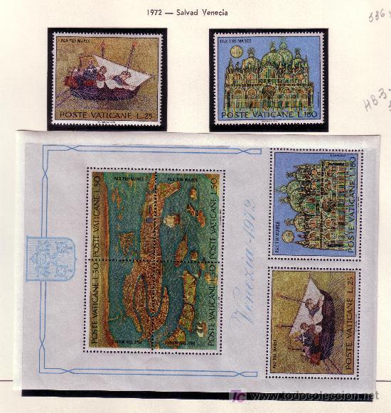 VATICANO.- YVERT Nº 536, 41 Y HOJA BLOQUE 3 SALVAD VENECIA NUEVO SIN CHARNELA (Sellos - Extranjero - Europa - Vaticano)