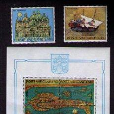 Sellos: VATICANO 1972 - SALVAR A VENECIA UNESCO - YVERT 536-541 + BLOCK 3. Lote 23655460