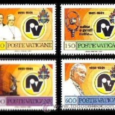 Sellos: VATICANO 1981 - 50 ANIVERSARIO DE LA RADIO VATICANA - YVERT Nº 702/705**. Lote 15250220