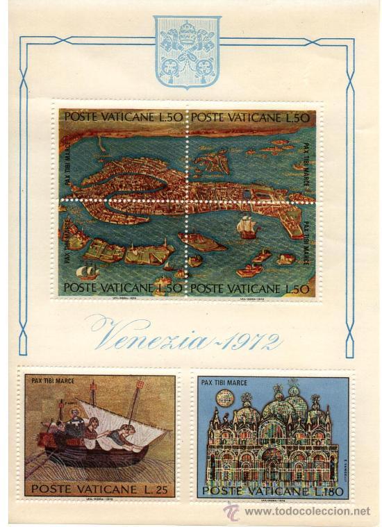 VATICANO HOJA BLOQUE Nº 3 VENECIA 1972 (Sellos - Extranjero - Europa - Vaticano)