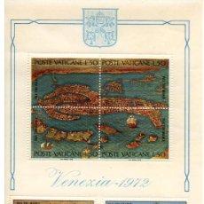 Sellos: VATICANO HOJA BLOQUE Nº 3 VENECIA 1972. Lote 15731132