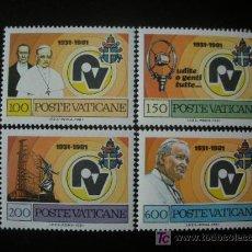 Sellos: VATICANO 1981 IVERT 702/5 *** 50º ANIVERSARIO DE LA RADIO VATICANA. Lote 17079800