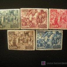 Sellos: VATICANO 1951 IVERT 167/71 *** 15 CENTENARIO DEL CONCILIO DE CALCEDONIA - PINTURA. Lote 23785618