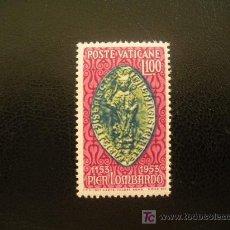 Sellos: VATICANO 1953 IVERT 191 *** 8º CENTENARIO DE LA MUERTE DE PIERRE LOMBARD - OBISPO DE PARIS. Lote 23707787