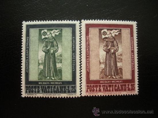 VATICANO 1956 IVERT 232/3 *** 5º CENTENARIO MUERTE DE SAN JUAN DE CAPISTRANO (Sellos - Extranjero - Europa - Vaticano)