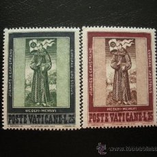 Sellos: VATICANO 1956 IVERT 232/3 *** 5º CENTENARIO MUERTE DE SAN JUAN DE CAPISTRANO. Lote 21362905