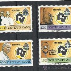 Sellos: VATICANO 1981, YVERT Nº 702/705**, 50 ANIVERSARIO DE LA RADIO VATICANA.. Lote 28314754