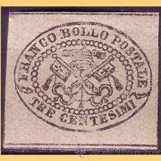 Sellos: VATICANO 1867 ESCUDOS PONTIFICIOS, IVERT Nº 13 *. Lote 28743971