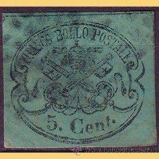 Sellos: VATICANO 1867 ESCUDOS PONTIFICIOS, IVERT Nº 14 (O). Lote 28743997