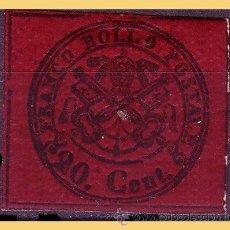 Sellos: VATICANO 1867 ESCUDOS PONTIFICIOS, IVERT Nº 16 *. Lote 28744038