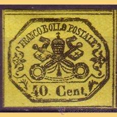 Sellos: VATICANO 1867 ESCUDOS PONTIFICIOS, IVERT Nº 17 *. Lote 28744067