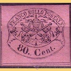 Sellos: VATICANO 1867 ESCUDOS PONTIFICIOS, IVERT Nº 18 *. Lote 28744111