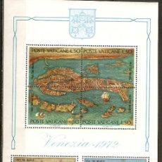 Sellos: VATICANO 1972 HOJITA UNESCO NUEVA SIN FIJASELLOS. Lote 39446348