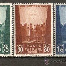 Selos: VATICANO YVERT NUM. 95/97 ** SERIE COMPLETA SIN FIJASELLOS. Lote 264955919
