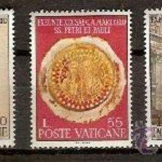 Sellos: SELLOS VATICANO YVERT 466 A 470 AÑO 1967 19º CENTENARIO MUERTE DE SAN PEDRO Y SAN PABLO. Lote 207138685