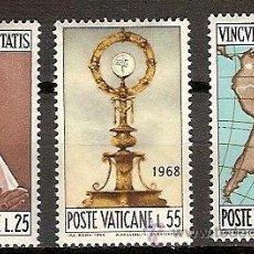 Sellos: SELLOS VATICANO YVERT 479 A 481 AÑO 1968 CONGRESO EUCARISTICO INTERNACIONAL DE BOGOTA . Lote 36925946