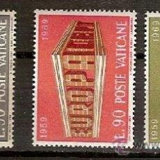 Sellos: SELLOS VATICANO YVERT 488 A 490 AÑO 1969 EUROPA . Lote 36926019