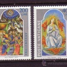 Sellos: VATICANO 636/37*** - AÑO 1977 - LA ASUNCIÓN - MINIATURAS DE LA BIBLIOTECA DEL VATICANO. Lote 112492239