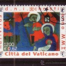 Sellos: VATICANO 1248A - AÑO 2001 - NAVIDAD - PINTURA RELIGIOSA - OBRA DE WEINERT. Lote 37492478