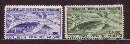 VATICANO AEREO 18/19*** - AÑO 1949 - 75º ANIVERSARIO DE LA UNION POSTAL UNIVERSAL (Sellos - Extranjero - Europa - Vaticano)