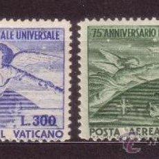 Sellos: VATICANO AEREO 18/19*** - AÑO 1949 - 75º ANIVERSARIO DE LA UNION POSTAL UNIVERSAL. Lote 37492545