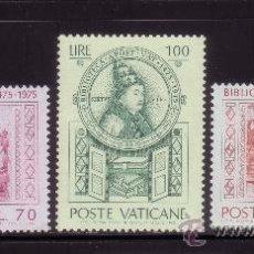Sellos: VATICANO 603/05** - AÑO 1975 - 5º CENTENARIO DE LA BIBLIOTECA VATICANA. Lote 102666646