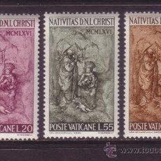 Sellos: VATICANO 463/65** - AÑO 1966 - NAVIDAD - PINTURA - OBRA DE LELLO SCORZELLY. Lote 104666740