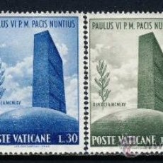 Sellos: VATICANO 1965 SELLOS CONMEMORATIVOS PAPA PABLO VI. Lote 38673709