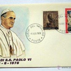 Sellos: MORTE DE S.S. PAOLO VI - 6/8/1978- SOBRE Y MATASELLOS EMITIDO CON DICHA FECHA- ESCASÍSIMOS. Lote 39357512