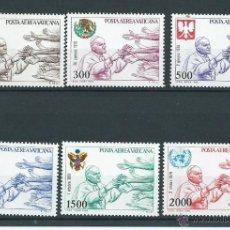 Sellos: VIAJES DEL PAPA JUAN PABLO, AÑO 1980, VATICANO, NUEVOS** S/F. Lote 39379224