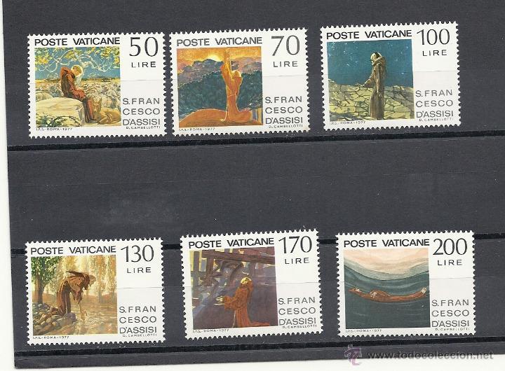 VATICANO 1977, YVERT Nº 628/633** .750º ANIVERSARIO DE LA MUERTE DE FRANCISCO DE ASIS (Sellos - Extranjero - Europa - Vaticano)