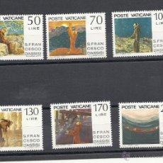 Sellos: VATICANO 1977, YVERT Nº 628/633** .750º ANIVERSARIO DE LA MUERTE DE FRANCISCO DE ASIS. Lote 39896655