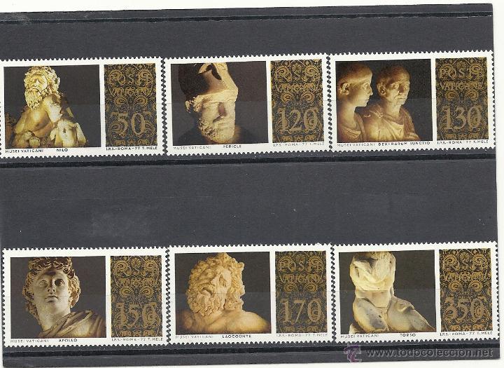VATICANO 1976, YVERT Nº 638/643**, MUSEO VATICANO - ESCULTURAS (Sellos - Extranjero - Europa - Vaticano)
