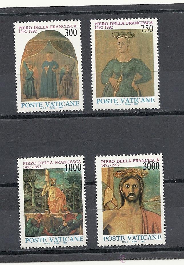 VATICANO 1992, YVERT Nº 926/29**, 5º CENTENARIO DE LA MUERTE DEL PINTOR PIERO DELLA FRANCESCA (Sellos - Extranjero - Europa - Vaticano)
