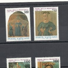 Sellos: VATICANO 1992, YVERT Nº 926/29**, 5º CENTENARIO DE LA MUERTE DEL PINTOR PIERO DELLA FRANCESCA. Lote 40078643