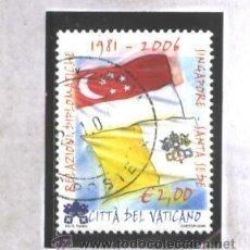 Sellos: VATICANO, CIUDAD DEL 2006 - YVERT NRO. 1416 -RELACIONES DIPLOMATICAS CON SINGAPORE - USADO. Lote 40426036