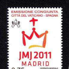 Timbres: VATICANO 1559** - AÑO 2011 - DIA MUNDIAL DE LA JUVENTUD . Lote 140445537