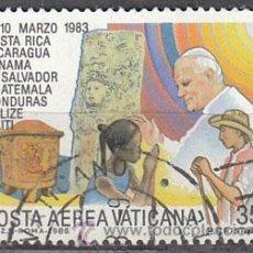 Sellos: VATICANO AEREO IVERT Nº 75, VIAJE DE JUAN PABLO II A AMERICA CENTRAL Y CARIBE, USADO. Lote 43256963