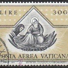 Sellos: VATICANO AEREO IVERT Nº 56, EL APOSTOL SAN MARCOS (FRA ANGELICO), USADO. Lote 43257213