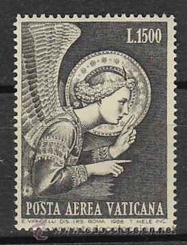 VATICANO AEREO IVERT Nº 54, EL ANGEL DE LA ANUNCIACION DE FRA ANGELICO, NUEVO *** (Sellos - Extranjero - Europa - Vaticano)