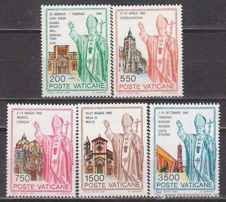VATICANO IVERT 914/8, VIAJES DE JUAN PABLO II POR EL MUNDO, NUEVOS *** (Sellos - Extranjero - Europa - Vaticano)