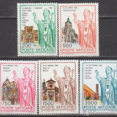Sellos: VATICANO IVERT 914/8, VIAJES DE JUAN PABLO II POR EL MUNDO, NUEVOS ***. Lote 43317609