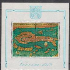 Sellos: VATICANO IVERT HOJA BLOQUE 3, SALVAD VENECIA, CAMPAÑA DE LA UNESCO, NUEVO. Lote 121730279