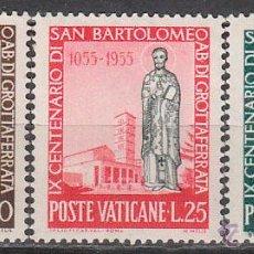 Sellos: VATICANO IVERT 218/20, 19 CENTENRIO DE SAN BARTHELEMY, NUEVOS. Lote 43683114