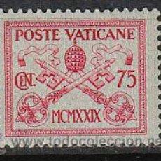 Sellos: VATICANO IVERT 32, SERIE BASICA 1929, ESCUDO DEL PAPA PIO XI, NUEVO. Lote 125270480