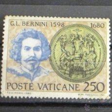 Sellos: POSTE VATICANE 250 G.L. BERNINI. Lote 47608320