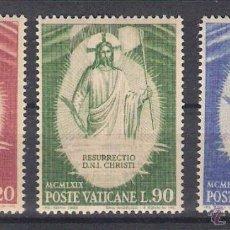 Sellos: VATICANO - AÑO 1969 - YVERT 485 / 487 - EDIFIL 541 / 543 - LA RESURRECCION. Lote 47870710
