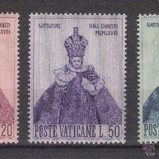 Sellos: VATICANO - AÑO 1968 - YVERT 482 / 484 - EDIFIL 538 / 540 - NAVIDAD . Lote 47870852