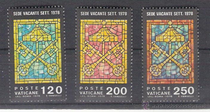 VATICANO - AÑO 1978 - YVERT 659 / 661 - EDIFIL 727 / 729 - SEDE VACANTE (Sellos - Extranjero - Europa - Vaticano)